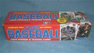 Fleer 1988 factory sealed baseball card set loaded with