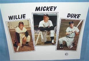 Mickey Mantle, Willie Mays & Duke Snider photo