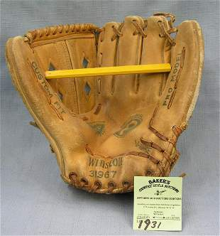 Vintage baseball glove Winston Pro model