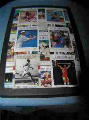 Collection of US Olympic collector cards