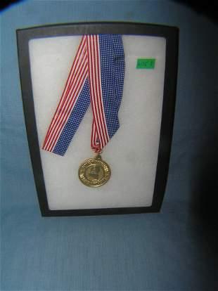 George Washington high school award medal and ribbon