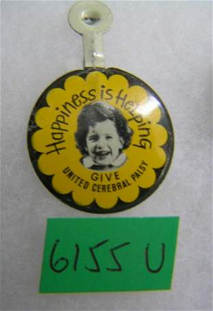 United Cerebral Palsy happiness is helping badge
