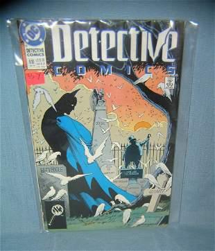 Group of vintage Detective comic books featuring Batman