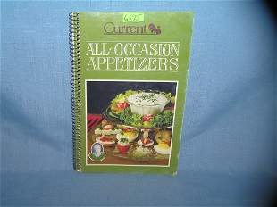 Vintage 1st edition cookbook for appetizers