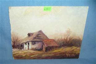 Modern oil on board painting