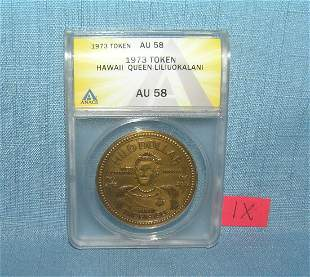 Hawaaii Queen Liliuokalani bronze commemorative