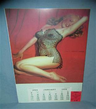 Marilyn Monroe 1954 Calendar retro style sign