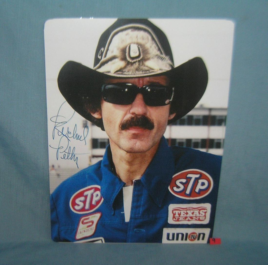 Richard Petty NASCAR pictural retro style sign