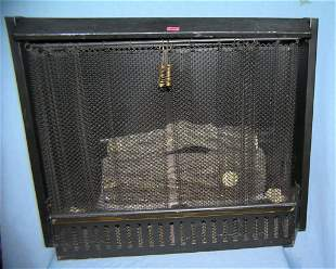 All metal with movable screen fire place box