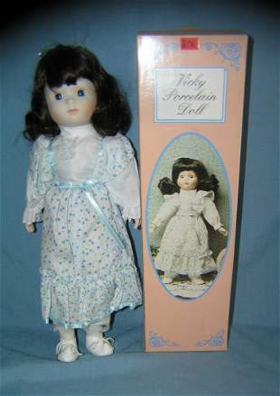 Vicky collectible porcelain doll in box