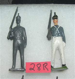 Pair of vintage hand painted soldiers