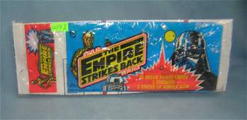 Early Star Wars rack pack wrapper and 3 vint. cards
