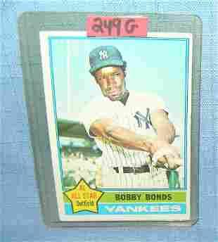 Vintage Bobby Bonds all star baseball card