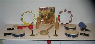 Collection of toys, noisemakers and instruments