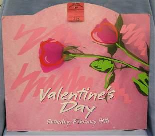 Valentines day die cut advertising piece