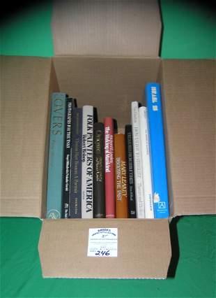 Large box full of vintage estate books