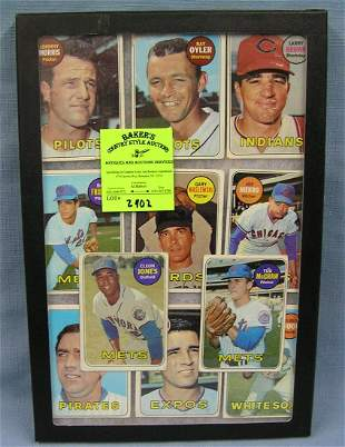 Collection of vintage Topps baseball cards