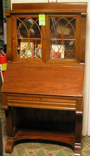 Antique walnut secretary bookcase