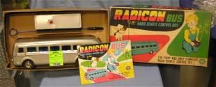Vintage Radicon remote controlled toy bus w/ org. box