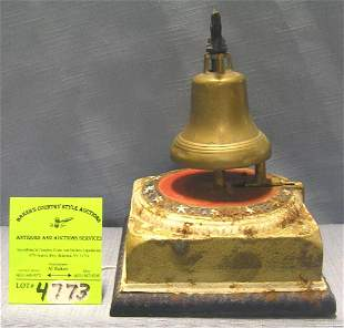 Vintage Liberty Bell mechanical bank