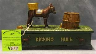 Kicking Mule mechanical bank