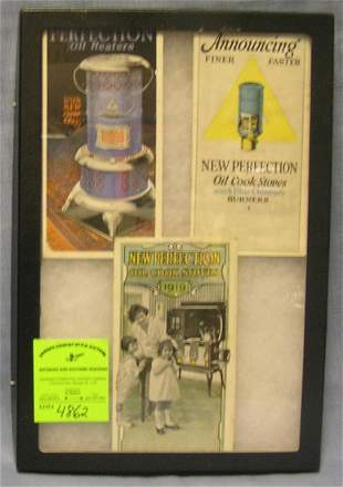 Group of antique advertising booklets