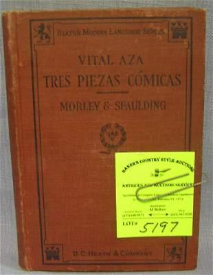 Antique book: Tres Piezas Comicas