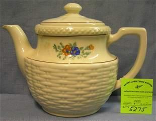 Vintage floral decorated porcelain teapot