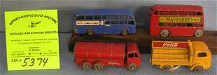 Group of four early Matchbox vehicles