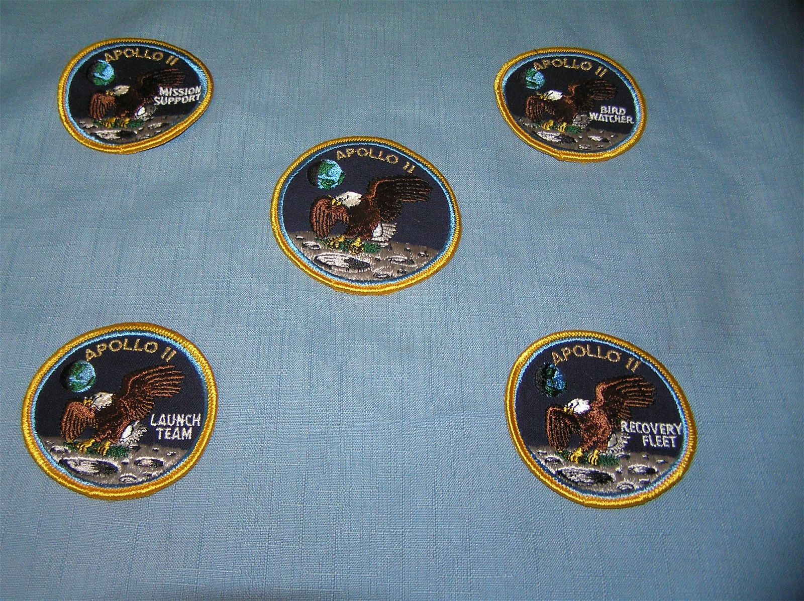 Apollo 11 first man on the moon patches