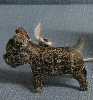 ideal dog food advertising good luck dog charm