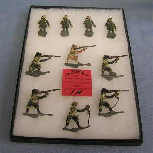 Collection of all hand painted toy soldiers