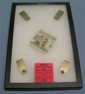 Group of vintage gold plated money clips