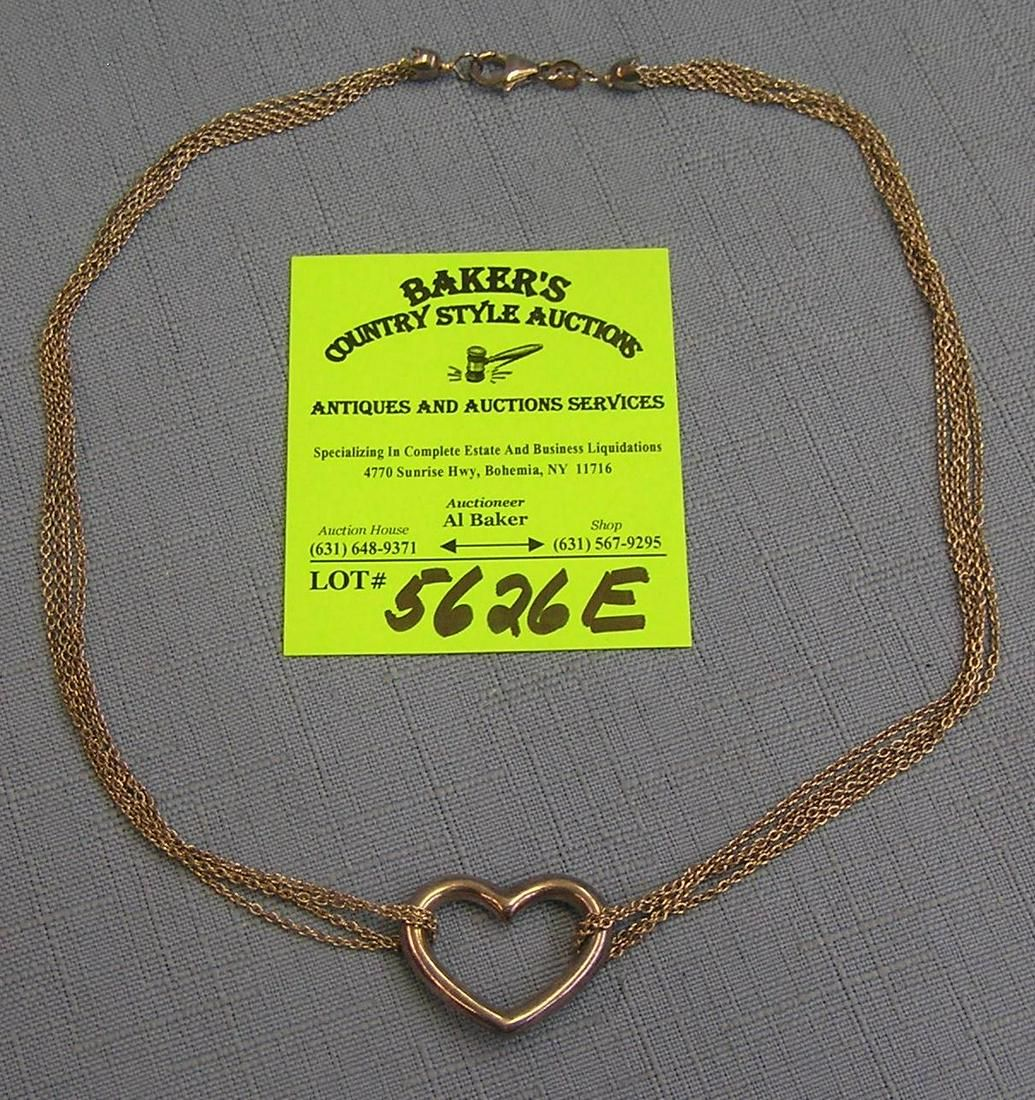 Quality heart shaped sterling silver necklace