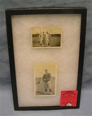 Pair of early Colby College baseball photos