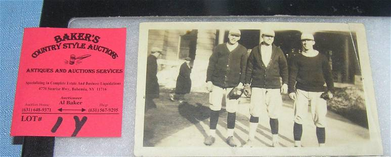 Early Colby College baseball photo