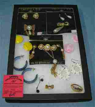 Costume jewelry earrings and pins