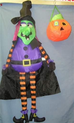 Pair of modern Halloween decorations