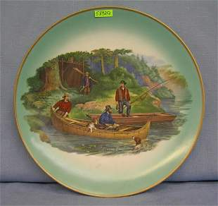 Starting Out early Currier and Ives wall plate
