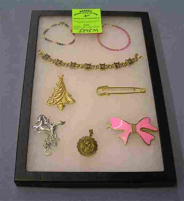 Group of quality pins and bracelets