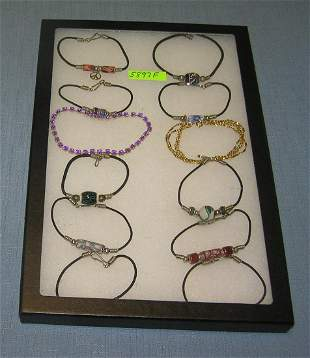 Collection of costume jewelry bracelets