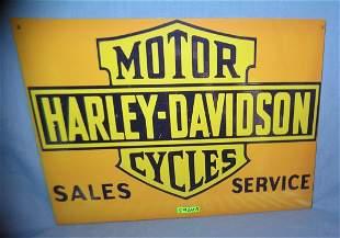 Harley Davidson motorcycle retro style advertising sign