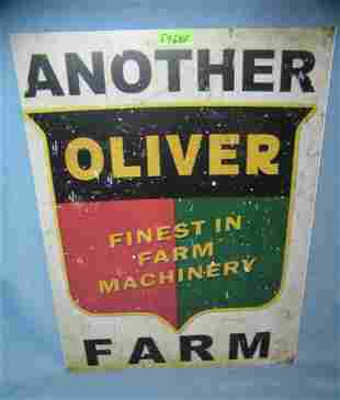 Oliver finest in farm equipment retro style advertising
