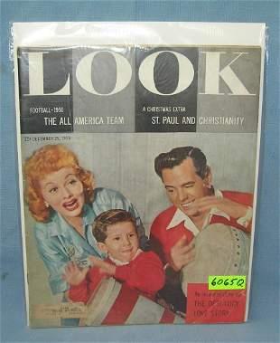 Lucille Ball & Desi Arnaz LOOK mag. w/ Little Ricky