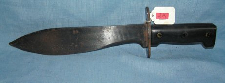 Large post WWII fighting knife signed Kiffe