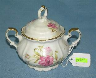 Floral decorated sugar bowl made by Edelstein