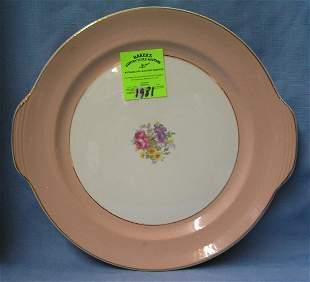 Floral decorated serving platter