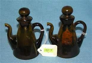 Pair of condiment servers circa late 1800's