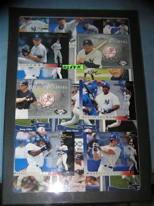 Vintage NY Yankees all star baseball cards