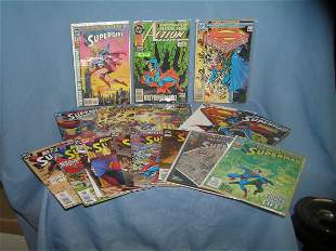 Group of DC Superman and related comic books